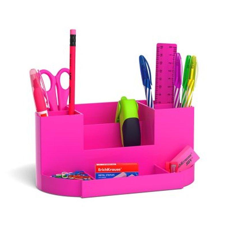 Набор настольный ErichKrause® Victoria, Neon Solid, розовый 53263