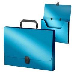 Портфель пластиковый ErichKrause® Matt Ice Metallic, FC, голубой 53300