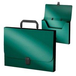 Портфель пластиковый ErichKrause® Matt Ice Metallic, FC, бирюзовый 53301