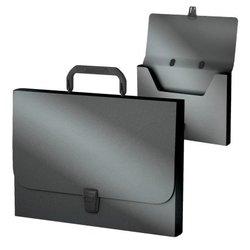 Портфель пластиковый ErichKrause® Matt Ice Metallic, FC, серебряный 53302