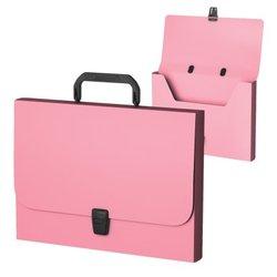 Портфель пластиковый ErichKrause® Matt Pastel, FC, розовый 53305