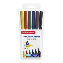 Фломастеры ErichKrause® Basic 6 цветов 53367