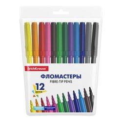 Фломастеры ErichKrause® Basic 12 цветов 53368