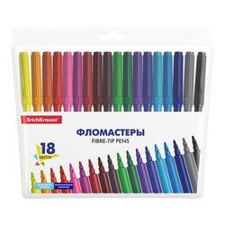 Фломастеры ErichKrause® Basic 18 цветов 53369