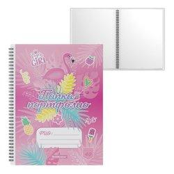 Папка-портфолио пластиковая ErichKrause® Rose Flamingo, c 40 карманами, A4 53370
