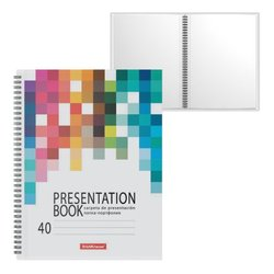 Папка-портфолио пластиковая ErichKrause® Bright Tetris, c 40 карманами, A4 53396