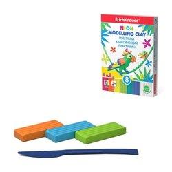 Классический пластилин ErichKrause® Neon 6 цветов + 2 белых со стеком, 144г 53405