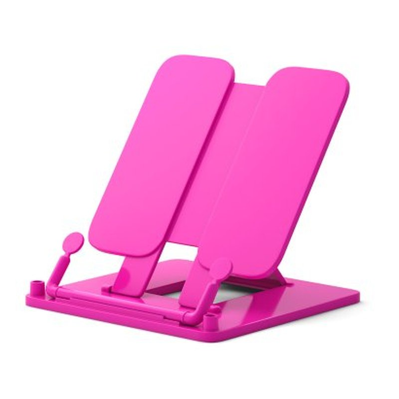 Подставка пластиковая для книг ErichKrause®, Neon Solid, розовый 53528