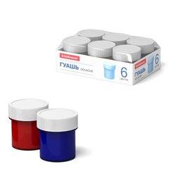 Гуашь ErichKrause® Basic light pack 6 цветов по 17мл 53751