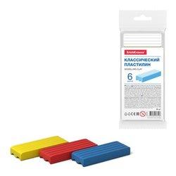Классический пластилин ErichKrause® Basic light pack 6 цветов (с подвесом), 96г 53754