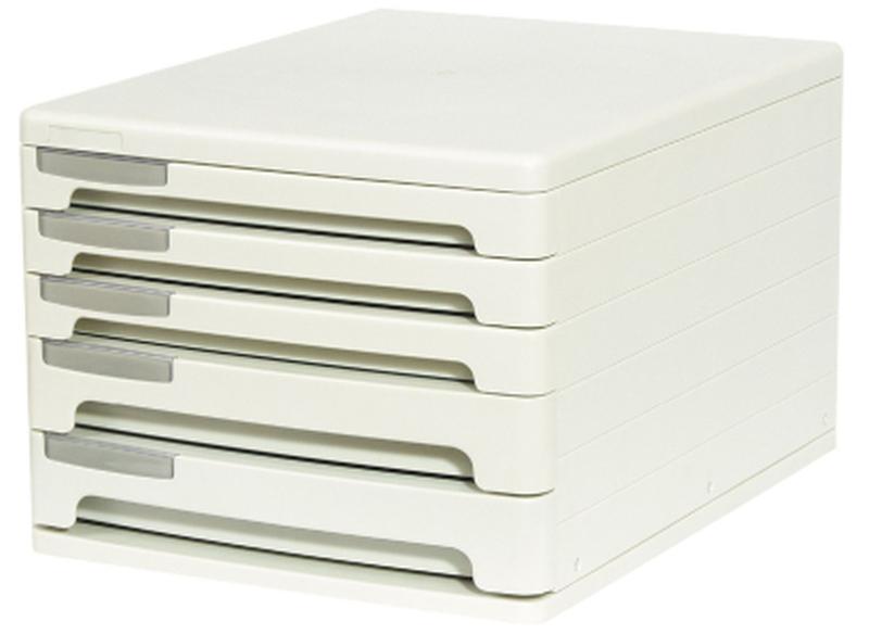 Файл-кабинет пластиковый 5-секционный ErichKrause®, серый 53