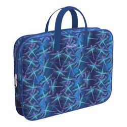 Папка текстильная на молнии ErichKrause® с ручками Neon Dragonflies, A4+ 54667