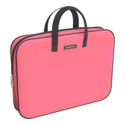 Папка текстильная на молнии ErichKrause® с ручками Neon® Coral, A4+ 54669