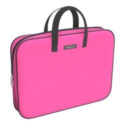Папка текстильная на молнии ErichKrause® с ручками Neon® Pink, A4+ 54670
