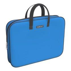 Папка текстильная на молнии ErichKrause® с ручками Neon® Blue, A4+ 54671