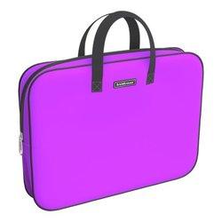 Папка текстильная на молнии ErichKrause® с ручками Neon® Violet, A4+ 54672