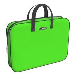 Папка текстильная на молнии ErichKrause® с ручками Neon® Green, A4+ 54673