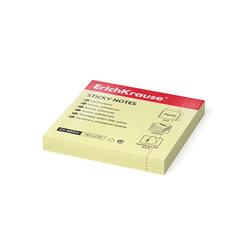 Бумага для заметок с клеевым краем ErichKrause®, 75х75 мм, 100 листов, желтый 59044