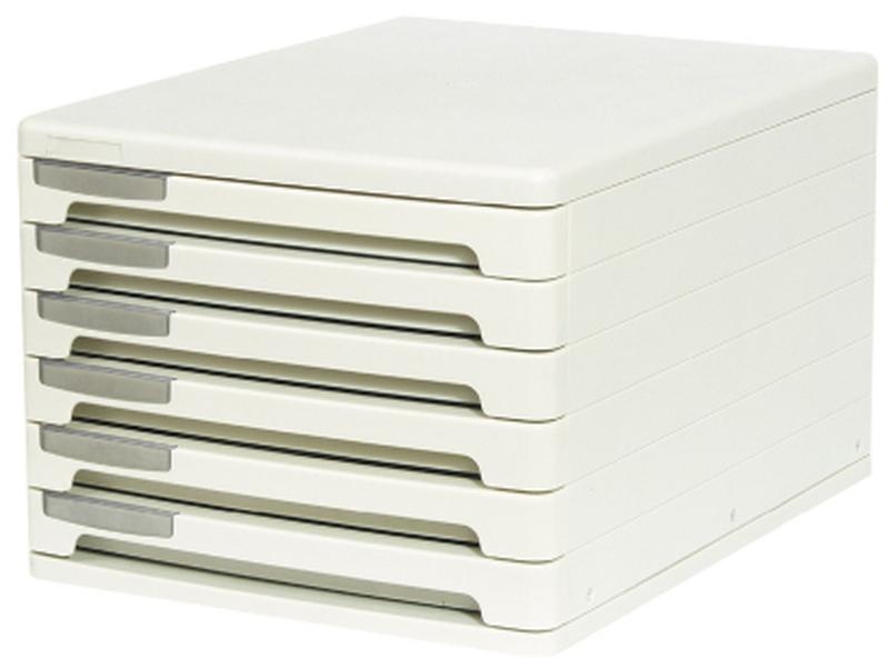 Файл-кабинет пластиковый 6-секционный ErichKrause®, серый 63