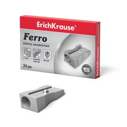 Металлическая точилка ErichKrause® Ferro, цвет корпуса серебряный 7074