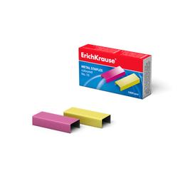 Скобы №10 ErichKrause® цветные (коробка 1000 шт.) 7140