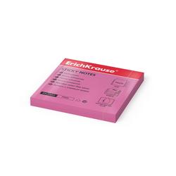 Бумага для заметок с клеевым краем ErichKrause® Neon, 75х75 мм, 80 листов, розовый 7323