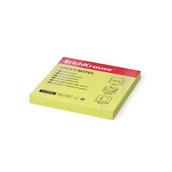 Бумага для заметок с клеевым краем ErichKrause® Neon, 75х75 мм, 80 листов, желтый 7336