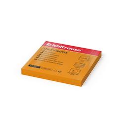 Бумага для заметок с клеевым краем ErichKrause® Neon, 75х75 мм, 80 листов, оранжевый 7337