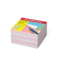 Бумага для заметок ErichKrause®, 90x90x50 мм, 2 цвета: белый, розовый 2719