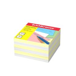 Бумага для заметок ErichKrause®, 90x90x50 мм, 2 цвета: белый, желтый 2721
