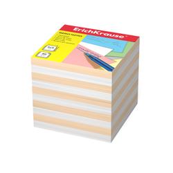 Бумага для заметок ErichKrause®, 90x90x90 мм, 2 цвета: белый, персиковый 6602