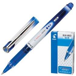 """Ручка-роллер с грипом PILOT """"V-Ball Grip"""", СИНЯЯ, корпус с печатью, узел 0,5 мм, линия письма 0,3 мм, BLN-VBG5-L"""