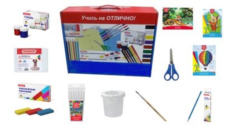 Набор для творчества с наполнением ErichKrause® 12 предметов, 6 цветов НТ-1